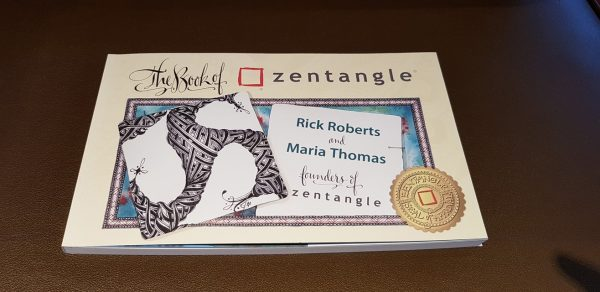 "The cover of ""The Book of Zentangle"" by Rick Roberts and Maria Thomas"