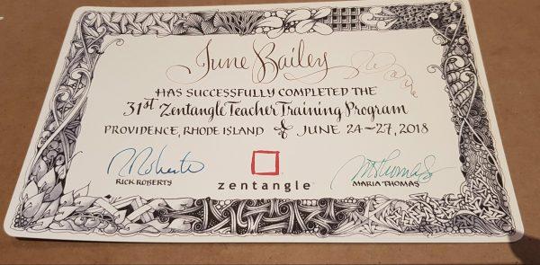 My CZT Certificate