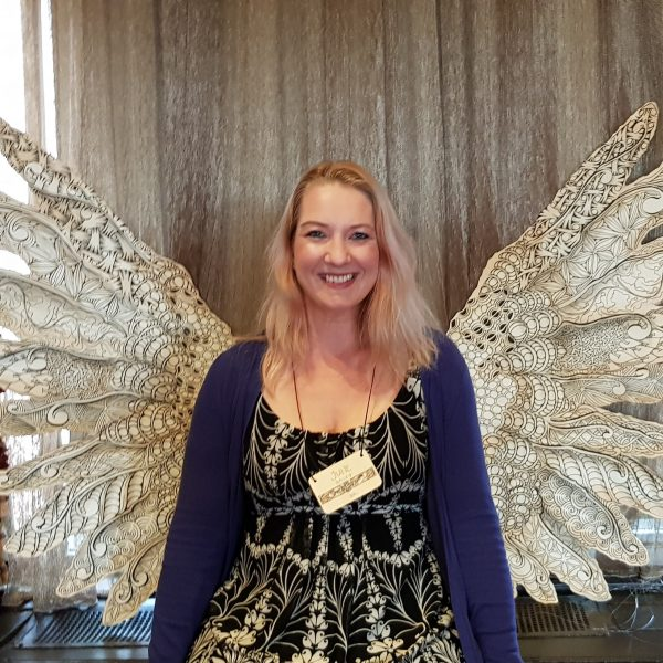 Me at Seminar with Tangled Angel Wings